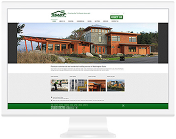 Esary Roofing website screenshot